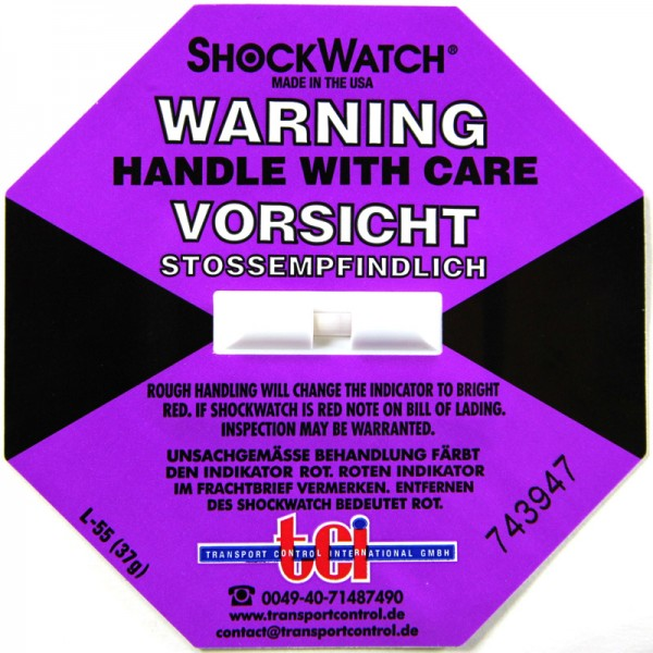 Schockindikator Shockwatch®, lila