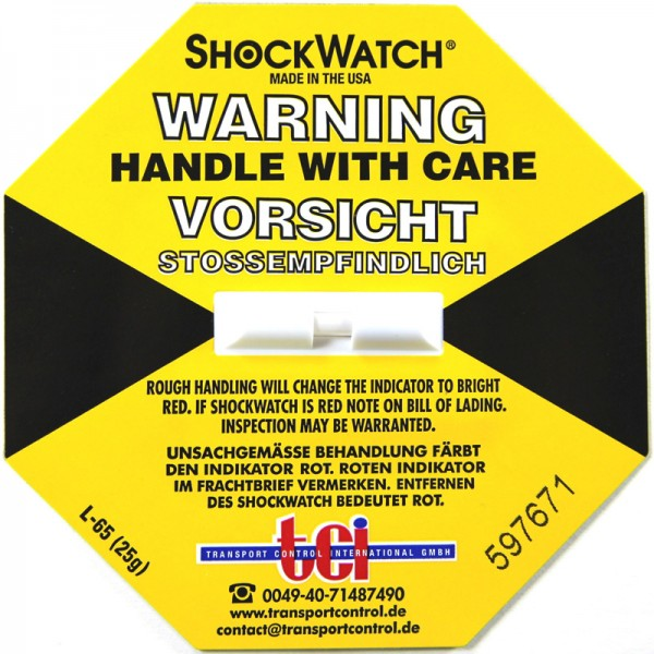 Schockindikator Shockwatch®, gelb