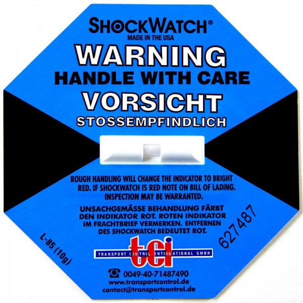 Schockindikator Shockwatch®, blau