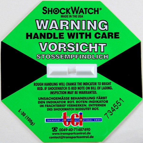 Schockindikator Shockwatch®, grün